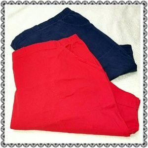 {JMS} 2pc bundle stretch denim shorts, sz 4X 26/28